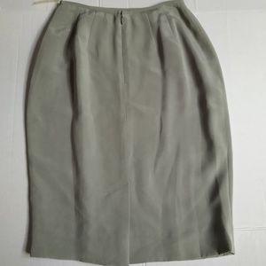 Dana Buchman Silk Pencil Skirt Sz 2 NWT VTG